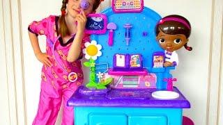 Doc McStuffins Toys! 🎀 Play Pet Vet Check up Center Toys! thumbnail