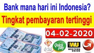04-02-2020 Saudi riyal exchange rate into Indonesian currency by today Saudi riyal rate, SAR to INDR