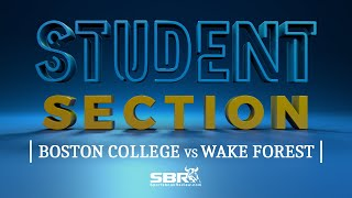 Boston College vs Wake Forest | Student Section Clip | College Football Betting Tips