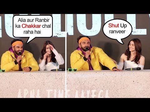 Alia Bhatt BLUSHES When Ranveer Singh OPENLY Teases Her With Bf Ranbir Kapoor