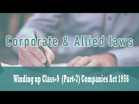 Winding Up|Part VII Of Companies Act 1956| Power of the Court Before Making Winding Up Order|Class 9