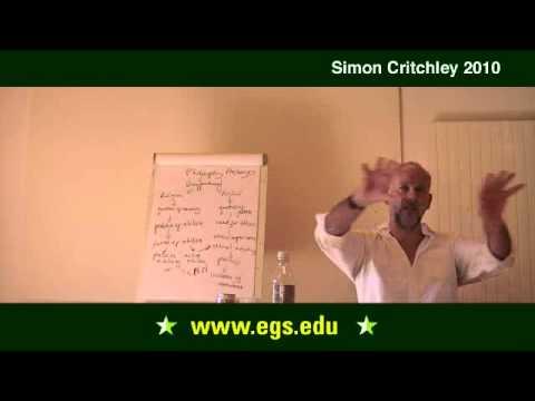 Simon Critchley.  Nihilism, Ethics, and Democratic Deficit.  2010