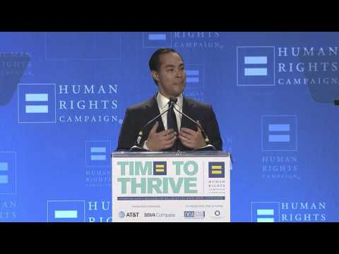Secretary Julián Castro at the 2016 HRC Foundation Time To THRIVE Conference