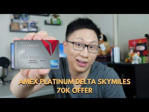 Amex Platinum Delta SkyMiles Historic High Offer (70k)