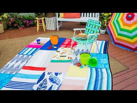 DIY Beach Towel Blanket - Home & Family