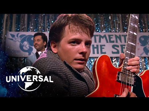 Back to the Future | Marty McFly Plays Johnny B. Goode and Earth Angel