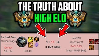 What Riot Doesn't Tell You About High Elo | THE UGLY TRUTH ABOUT HIGH ELO | League of Legends