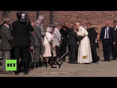 RAW: Pope Francis visits Auschwitz, meets survivors
