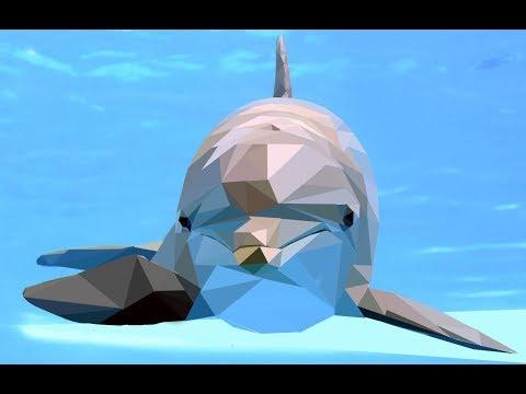 triangles dolphin mosaic - Gimp thumbnail