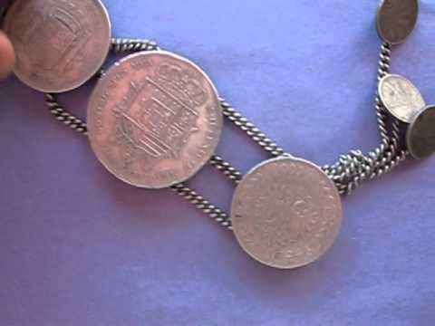 Antique Rare Silver 9 Coins Bracelet EBAY SALE# 251008719706
