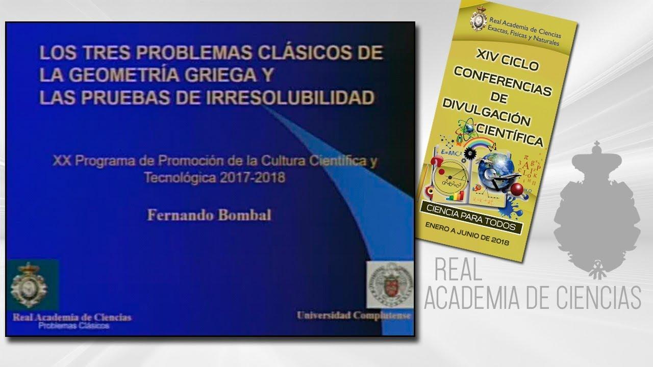 Fernando Bombal Gordón, 5 de abril de 2018.11º conferencia delXIV CICLO DE CONFERENCIAS DE DIVULGACIÓN CIENTÍFICA.CIENCA PARA TODOS 2018http://www.rac.eshttps://twitter.com/racienciashttps://arac.rac.es/