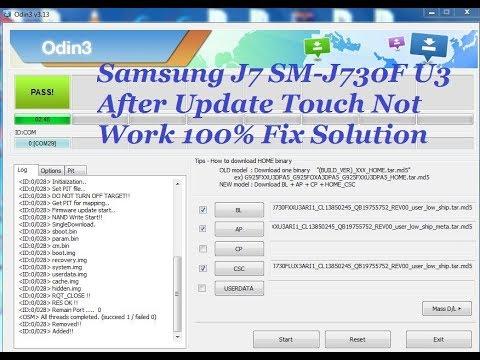 Samsung J7 SM J730F U3 After Update Touch Not Work 100% Fix Solution