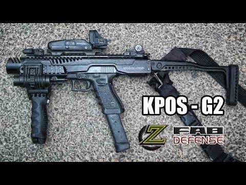 ZAHAL - KPOS G2 with Glock 19 (Full Auto in slowmotion)