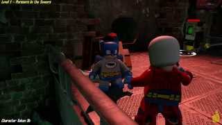 Lego Batman 3 Beyond Gotham: Lvl 1 Pursuers in the Sewers FREE PLAY (All Collectibles) - HTG