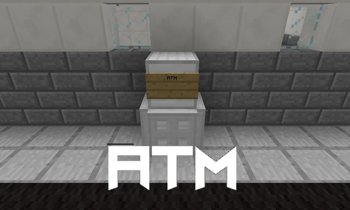 Working Atm With 4 Digit Combination Lock In Minecraft