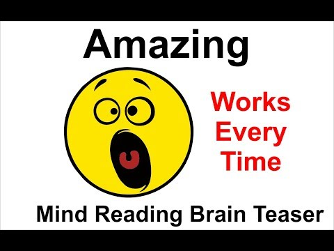 Mind Reading Brain Teaser - Works Every Time