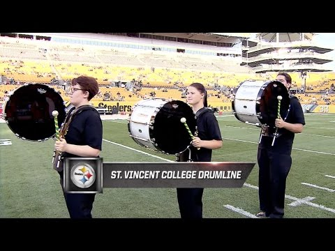 Saint Vincent College Drumline performs at Heinz Field