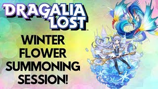 Dragalia Lost: The Winter Flower Summoning Session + Tour of My Roster!