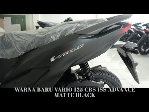 Warna Baru Honda Vario 125 Advance Matte Black Hitam Doff Cbs Iss 2019 Youtube