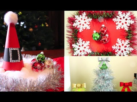 Christmas DIY Room Decorations! | Casey Holmes - YouTube