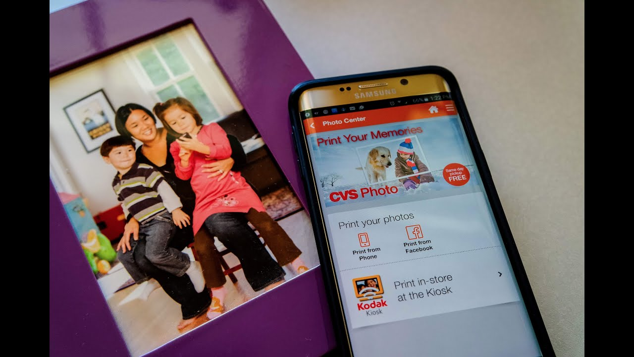 how to print photos from the cvs pharmacy app