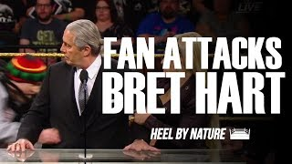 Fan Attacks Bret Hart During WWE Hall Of Fame Induction Speech