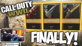 """CALL OF DUTY WWII: FINALLY GUN SKINS!! """"COD WWII Supply Drop Opening"""""""