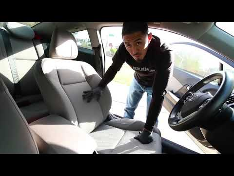 How To Clean Car Cloth Seats  Car Interior Steam Cleaning