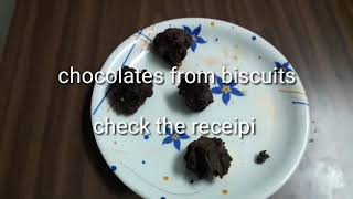 Instant Homemade Nutella Chocolate || Homemade Chocolates || Chocolates from Biscuits