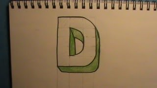 How to Draw the Letter D in 3D
