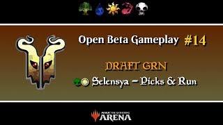 [Magic Arena] OBeta Gameplay #14 - Draft Guilds of Ravnica - Selesnya 7-2 Picks + Run