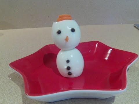 Como hacer con dos huevos un mu eco de nieve ideas - Como hacer un muneco ...