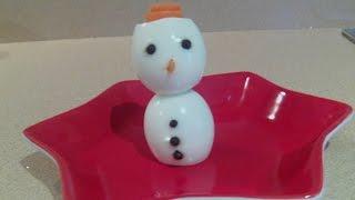 Como hacer con dos huevos un muñeco de nieve ideas creativas para navidad