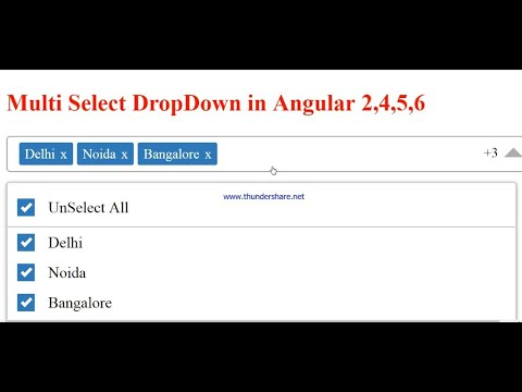 Multiselect Dropdown in Angular