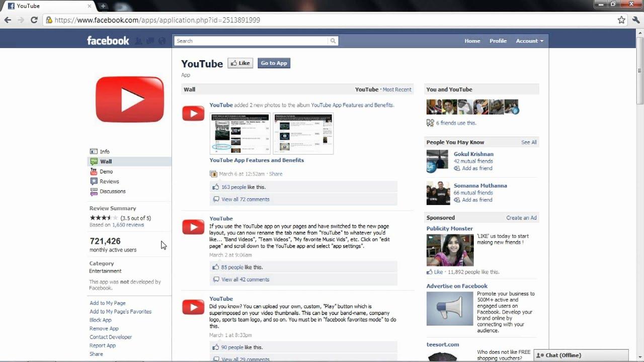 Facebook: How To Install Applications On Your Page