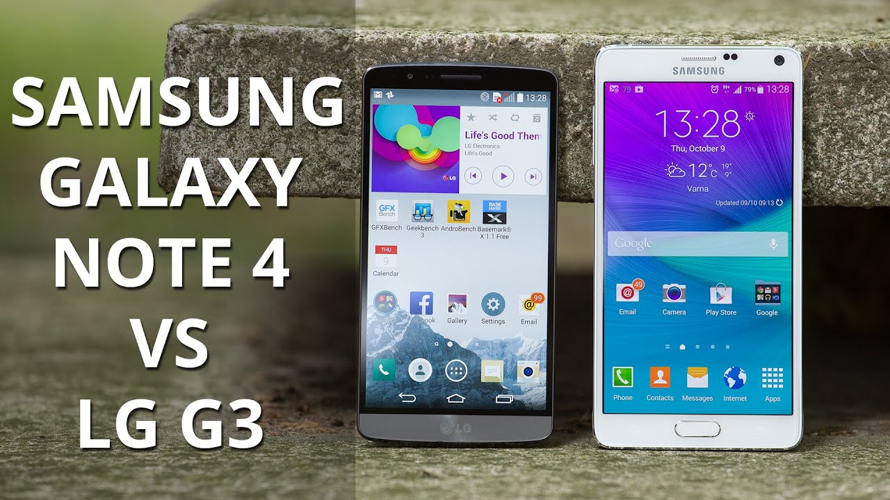 samsung galaxy note 4 vs lg g3 youtube. Black Bedroom Furniture Sets. Home Design Ideas