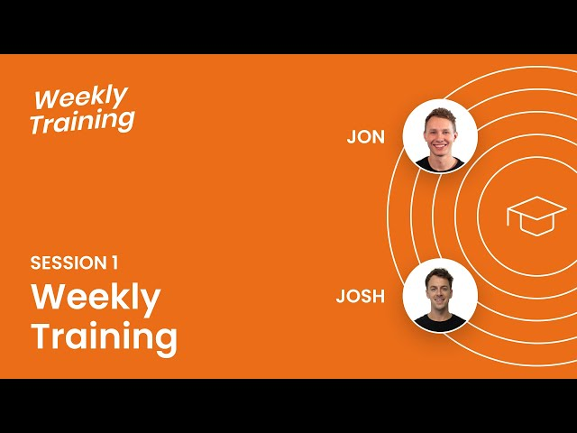 Weekly Training Session 1: 9-19-2019