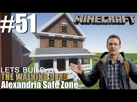 Minecraft | Lets Build The Walking Dead | Alexandria Safe Zone | Rondom house pt2 | #51
