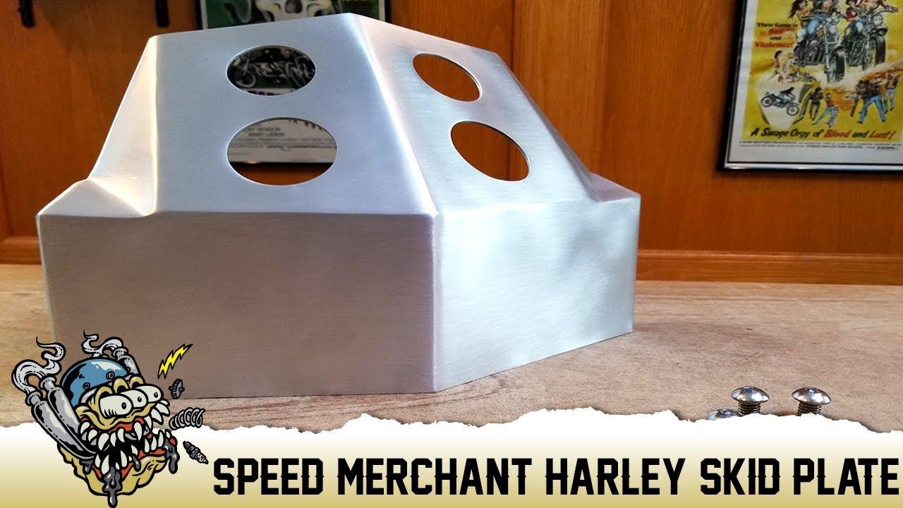 Speed Merchant Skid Plate for Dyna, FXR, Sportster Overview -  DeadbeatCustoms com by Deadbeat Customs