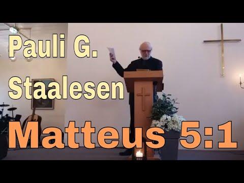 Pauli Georg Staalesen: Matteus 5:1