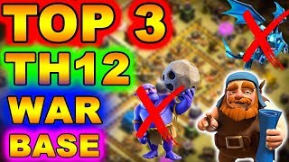 MUST TRY TOP 3 TH12 WAR BASE 2018   Anti All Max Troops +7 Replays   Anti 3 Star   Coc