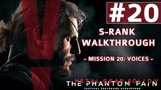 Metal Gear Solid V: The Phantom Pain - S-Rank Walkthrough - Mission 20: Voices (Man on Fire Boss)
