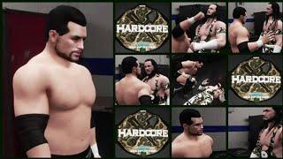 WWE 2K18 WWE Hardcore Championship El Texano Jr VS SKS Backstage Brawl