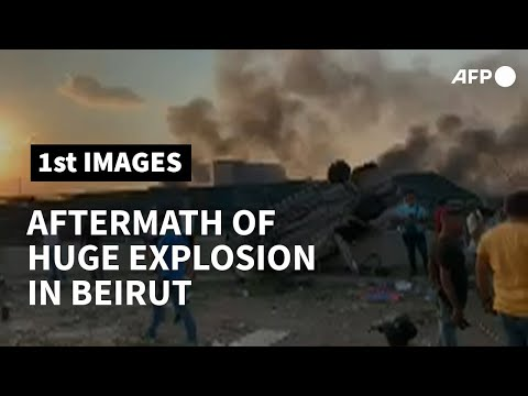 Aftermath after a strong explosion in Lebanon's Beirut | AFP