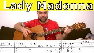 Fingerstyle Tutorial: Lady Madonna - Guitar Lesson w/ TAB