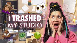 I Trashed My Studio!