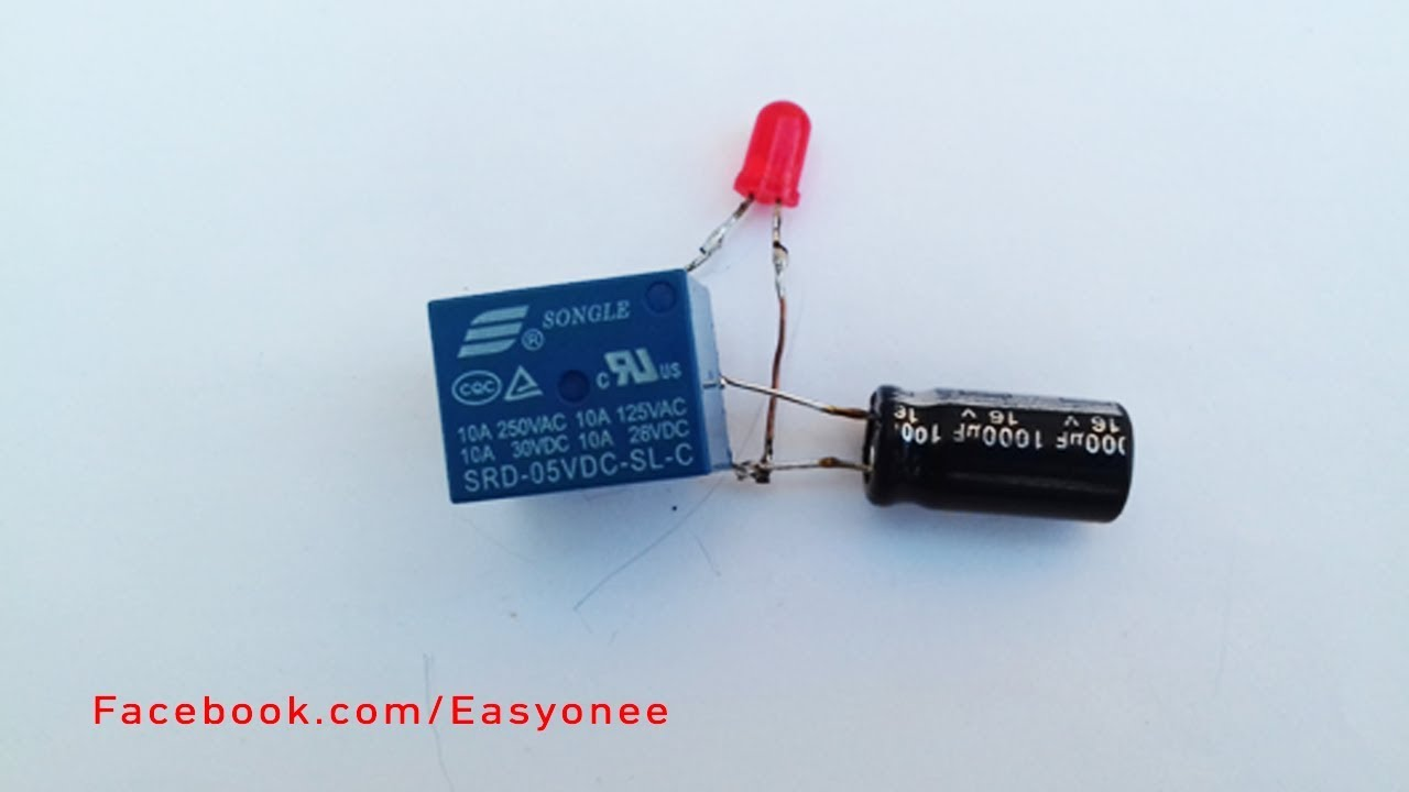 small resolution of how to make led flasher relay simple diy project