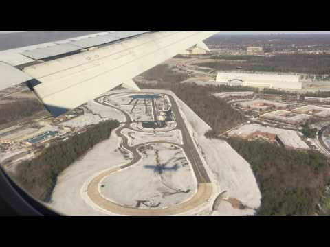 Aterrizando en Washington Dulles International Airport (Virginia, USA)