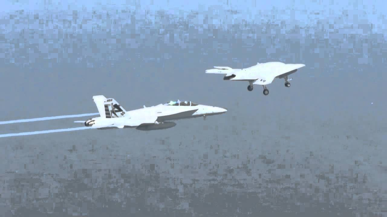 X 47b Combat Drone In Flight