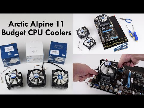 Arctic Budget CPU Coolers Review Roundup Comparison Alpine 11, Alpine 11 Pro and Alpine 11 Plus